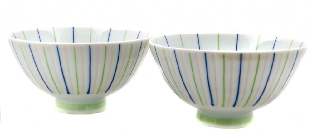 Stripes - bowls Japanese X 2